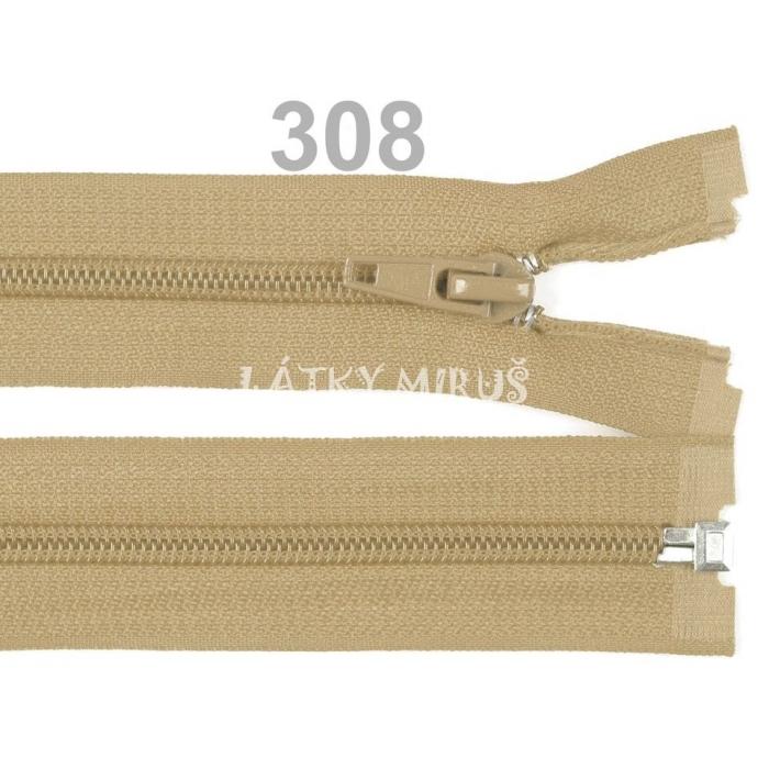 Spirálový zip šíře 5 mm délka 35 cm bundový béžový