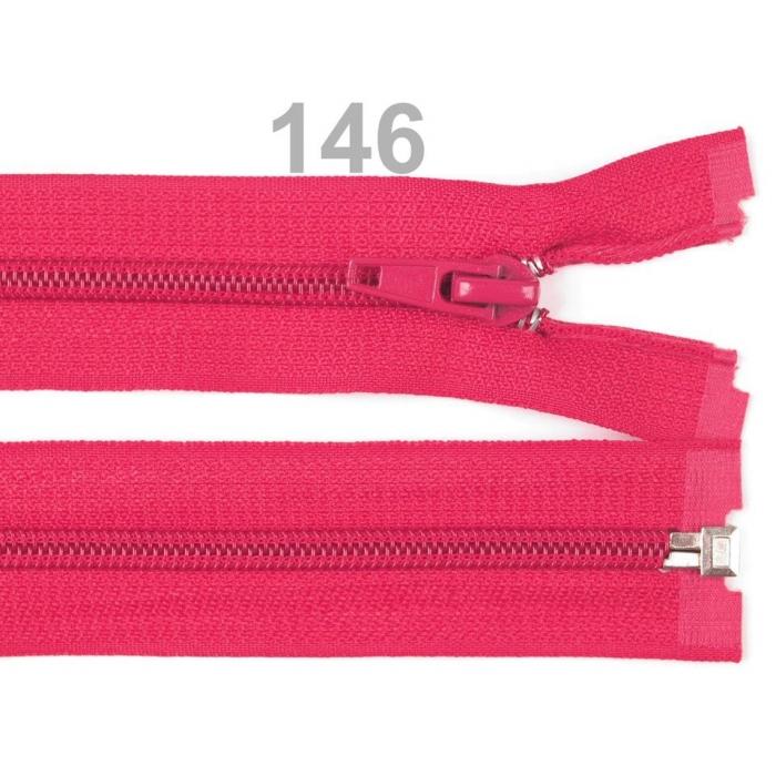 Spirálový zip šíře 5 mm délka 40 cm bundový s.růžový