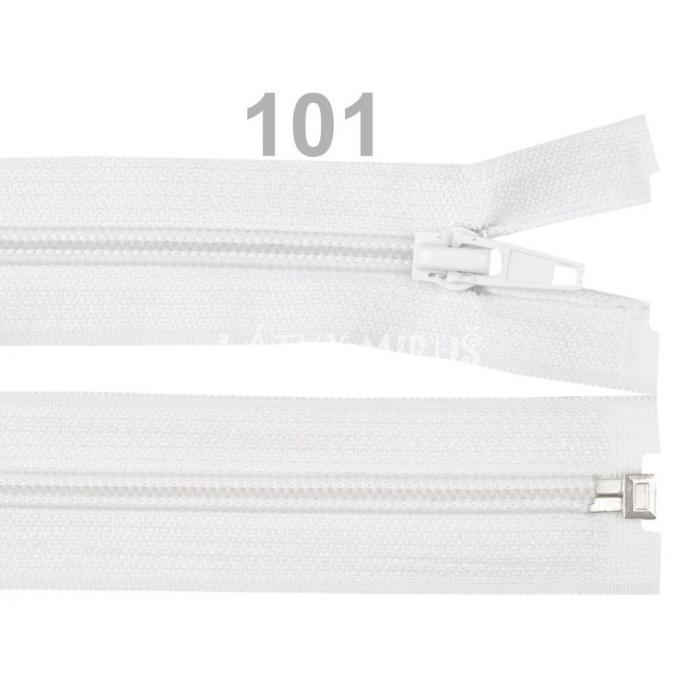 Spirálový zip šíře 5 mm délka 40 cm bundový bílý