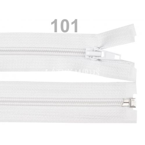Spirálový zip šíře 5 mm délka 45 cm bundový bílý