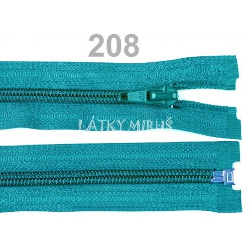 Spirálový zip šíře 5 mm délka 45 cm bundový tyrkysový