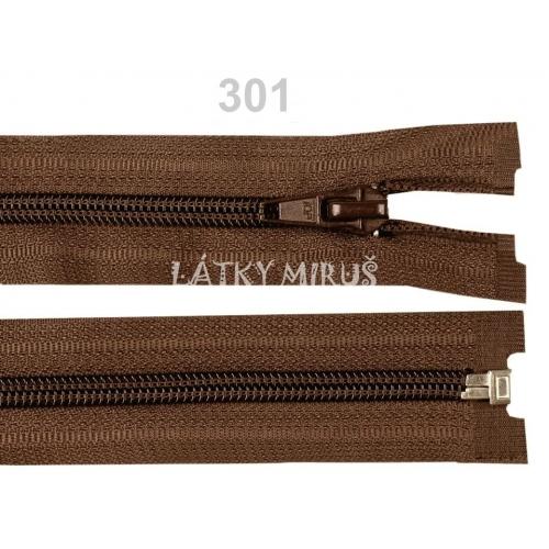 Spirálový zip šíře 5 mm délka 55 cm bundový hnědý