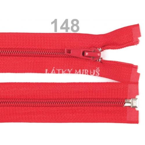 Spirálový zip šíře 5 mm délka 65 cm bundový červený