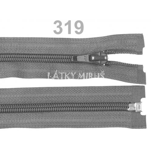 Spirálový zip šíře 5 mm délka 65 cm bundový šedý