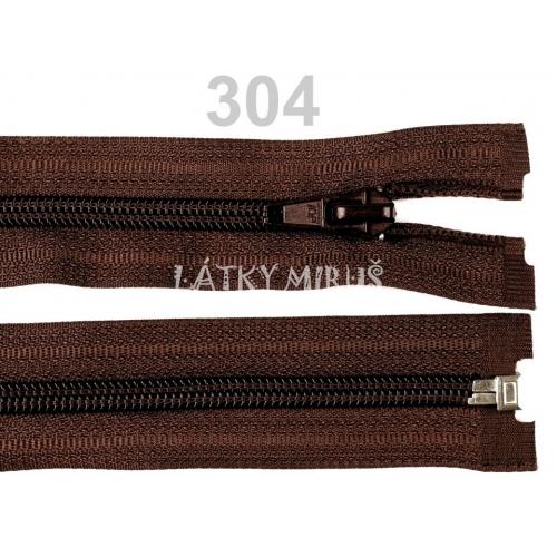 Spirálový zip šíře 5 mm délka 45 cm bundový hnědý