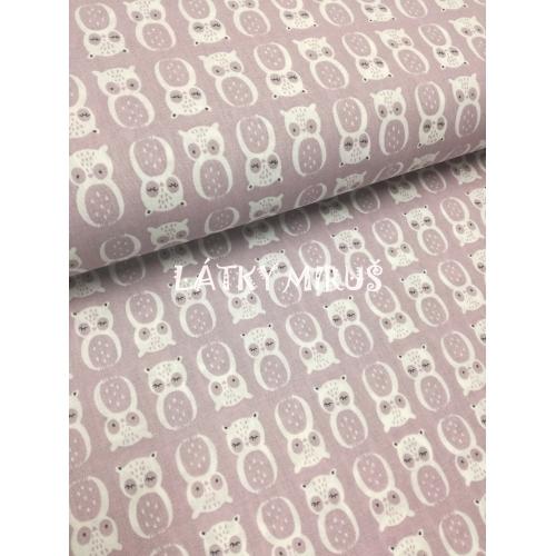 č.5542 sovy na fialové