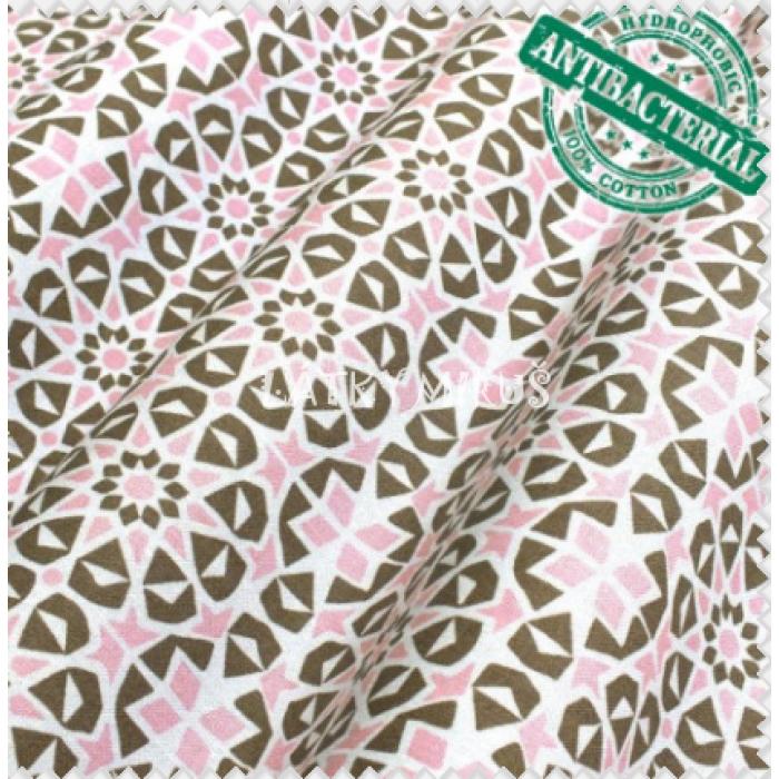Antibakteriální bavlna - růžové vzory