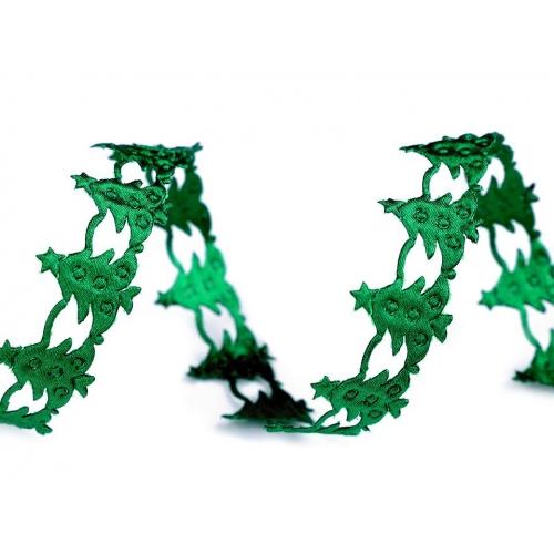 Saténová aplikace - stromy zelené