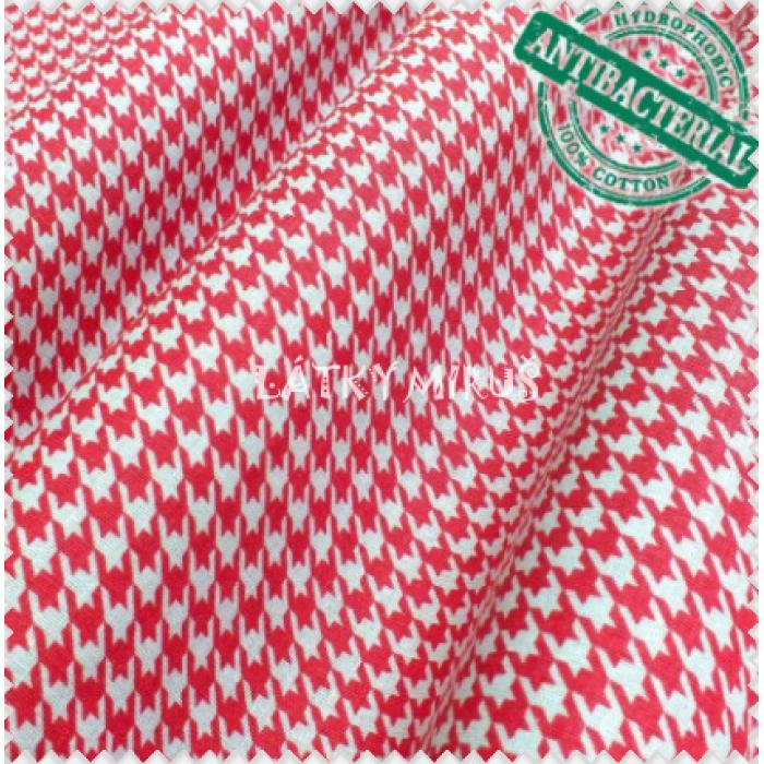 Antibakteriální bavlna - růžový vzor
