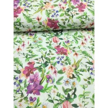 č.1961 květy na bílé - směsovka