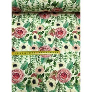 č.4355 teplákovina - růže