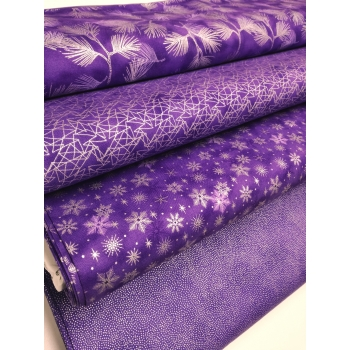 č.4236 kouzelné vánoce na fialové