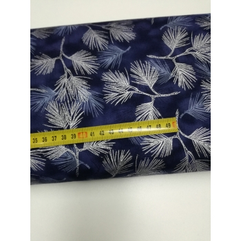 č.4256 větvičky stříbrné na modré