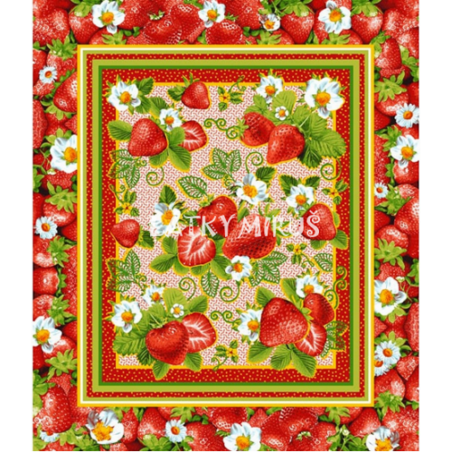 Vafle - utěrkovina - (63x50) jahody