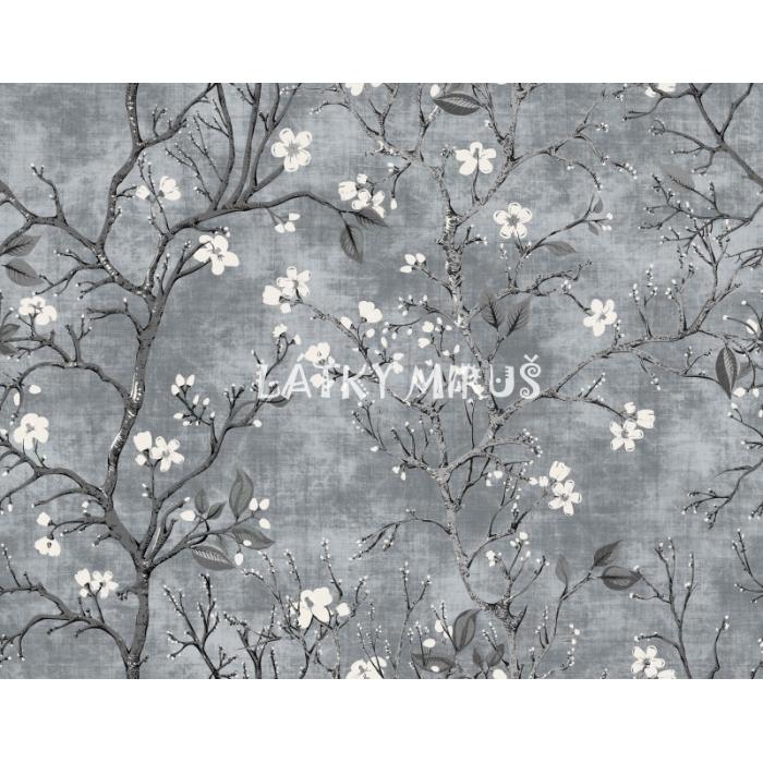 Blackout Květy na šedé