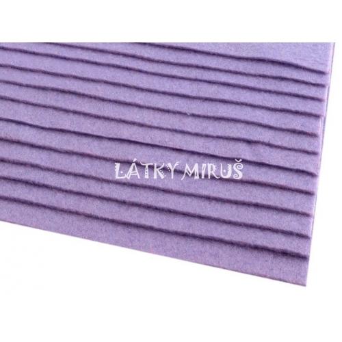 Látková dekorativní plsť - fialová