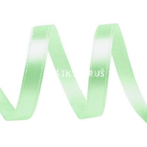 Stuha atlasová 3mm - pastelově zelená (5m)