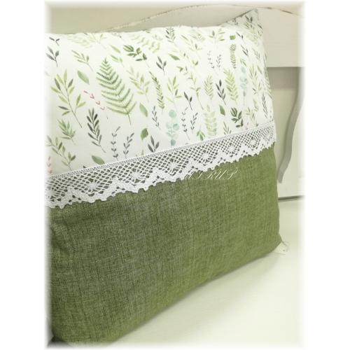 Povlak s krajkou 45x45 botanik