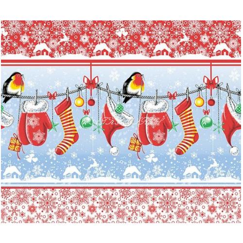 Vafle - utěrkovina (63x50) vánoční punčochy