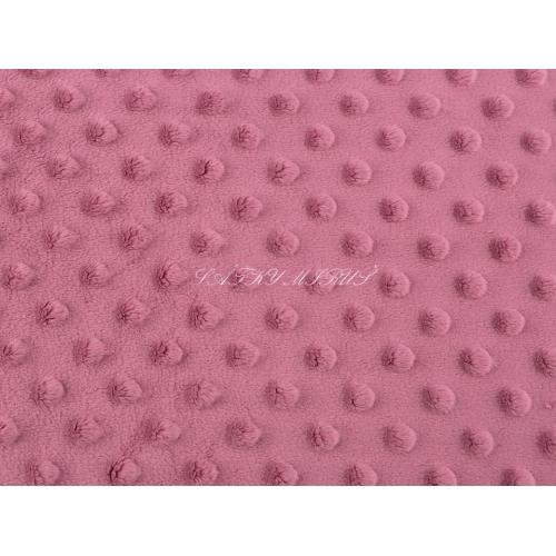 Minky 380 g/m² starorůžová
