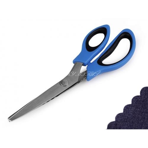 Nůžky entlovací délka 24 cm obloučky modré