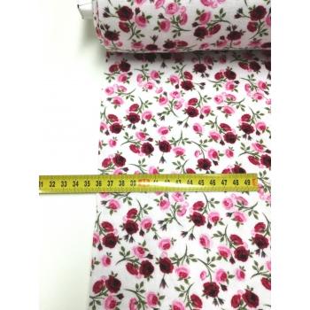 č.647 plenkovina - růže na bílé