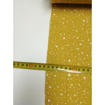 č.650 plenkovina - puntíky na okrové