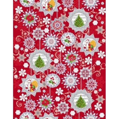 Bavlněný běhoun š.50cm - vánoční vzory