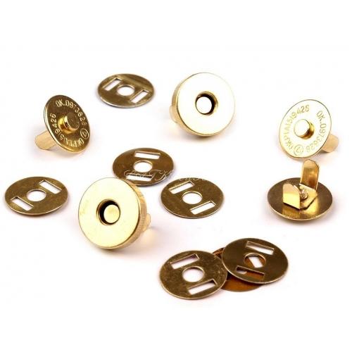 Magnetické Zapínání zlaté- Ø15Mm