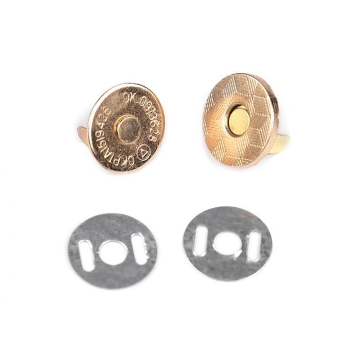 Magnetické zapínání tenké Ø14 mm zlaté