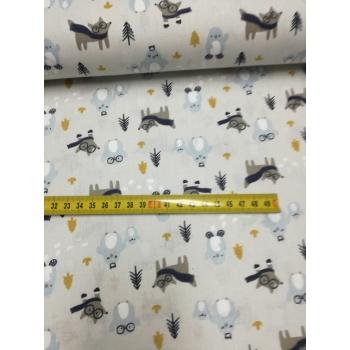 č.1329 lišky a sovy na šedé
