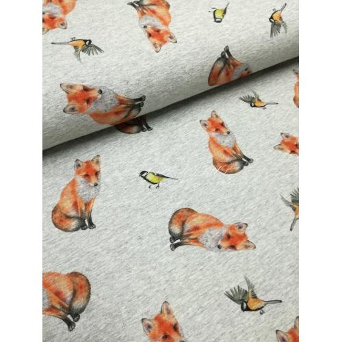 Teplákovina lišky na šedé