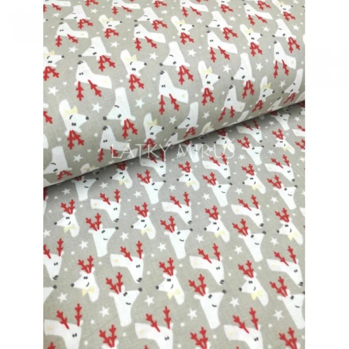 č.5444 jeleni na béžové