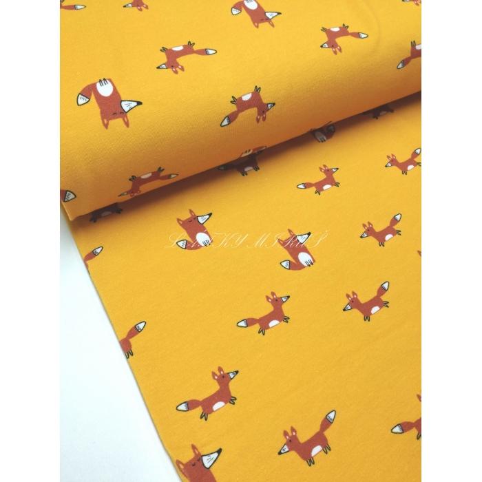 č.904 úplet - lišky na žluté
