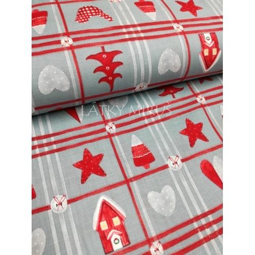 č.9170 vánoční patchwork