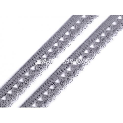 Ozdobná pruženka 440601 - šedá