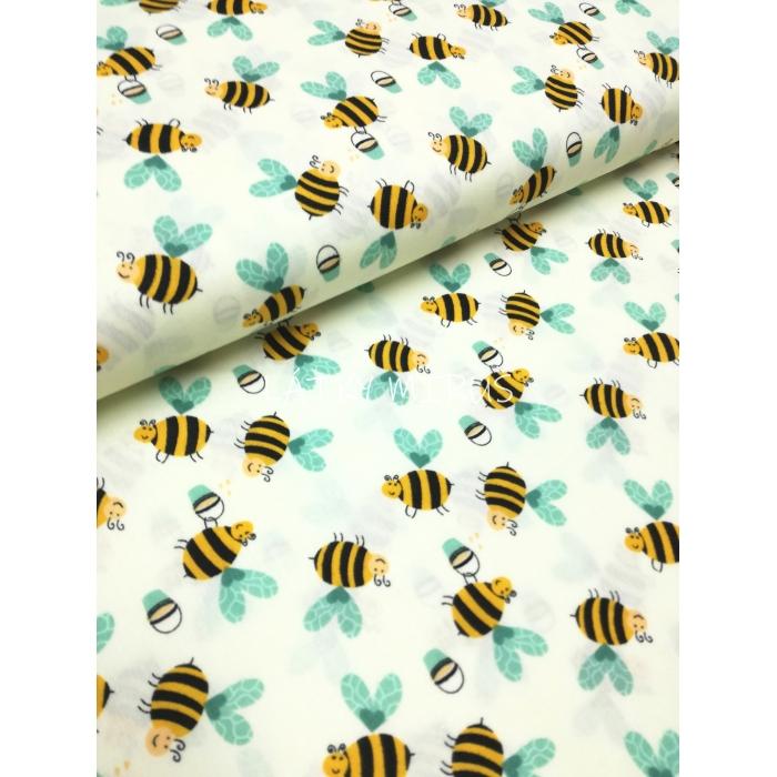 č.5290 popelín - včely