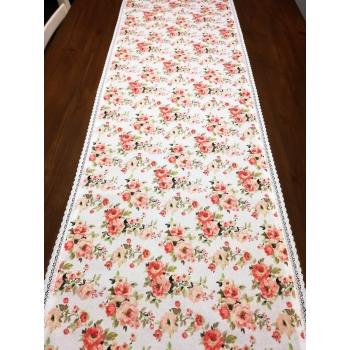 Běhoun s krajkou 140x38 - květy