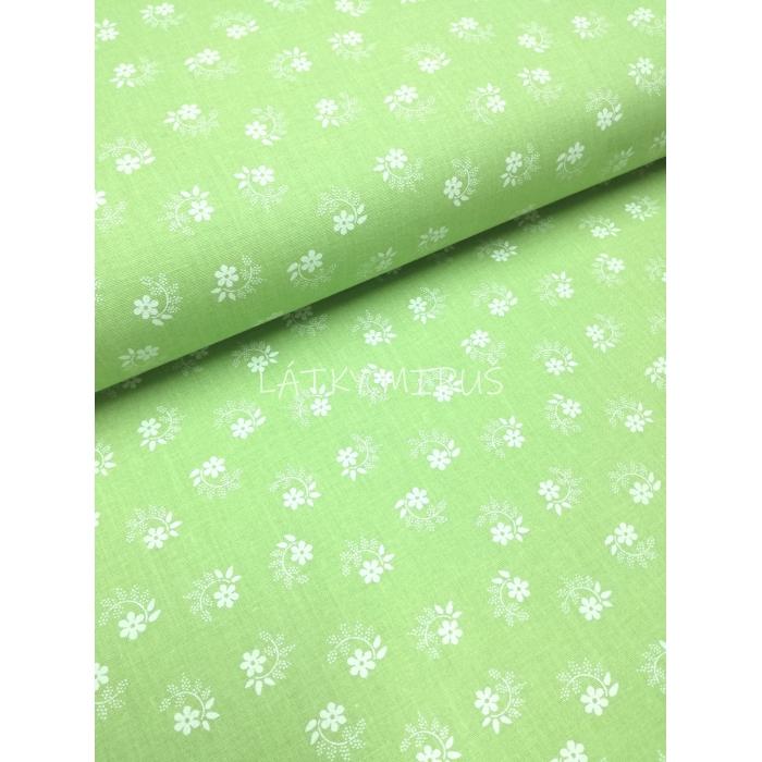 č.2928 květy na pastel.zelené