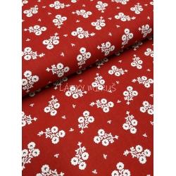 č.6344 květy na červené