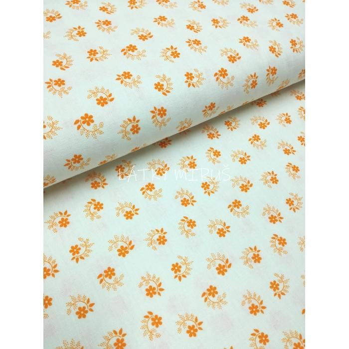 č.6353 květy oranžové