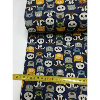 č.6247 úplet - zvířata na modré