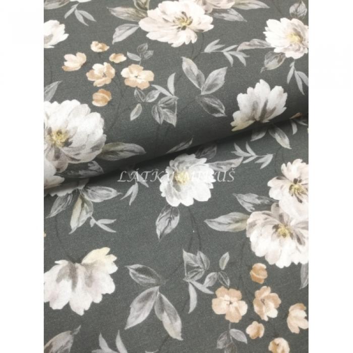 č.7094 květy na šedé