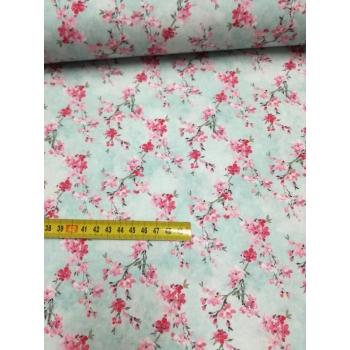 č.6215 květy na modré