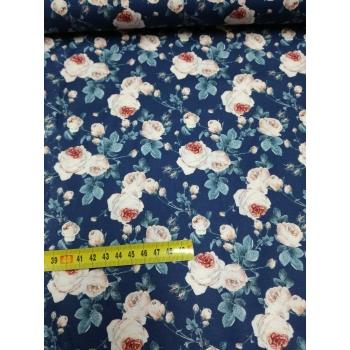 č.6224 růže na modré - digi tisk