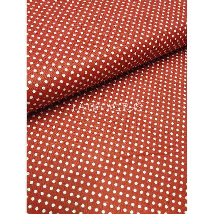 č.2533 puntíky na červené