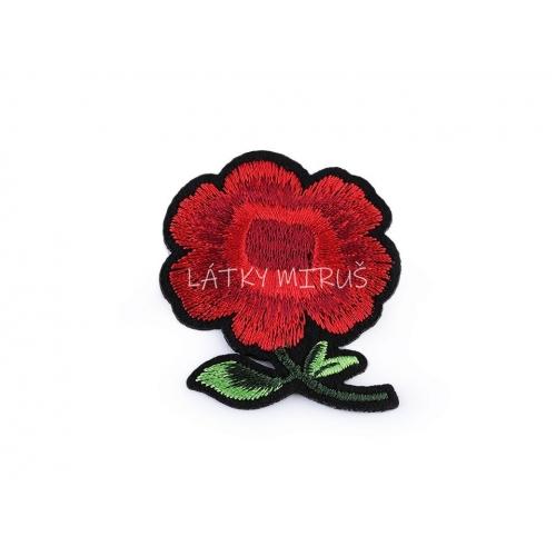 Nažehlovačka květ červený 1