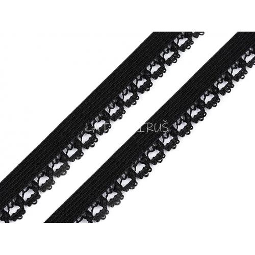 Ozdobná pruženka  -černá 440756