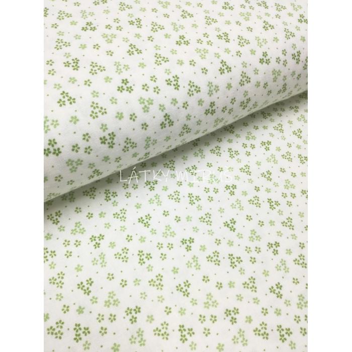č.3046 kvítí zelené na bílé