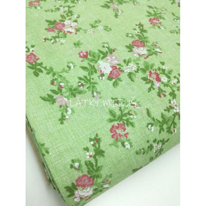 č.3048 květy na zelené